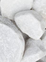 Rocalla Blanca Mármol 40 - 100mm en seco