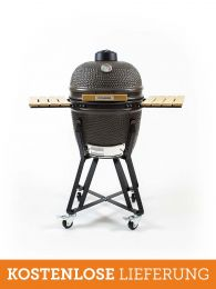 The Columbus Kamado Grill Medium Charcoal Grey