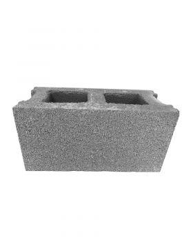 Bloque de hormigón hueco LISO gris 40x20x20cm