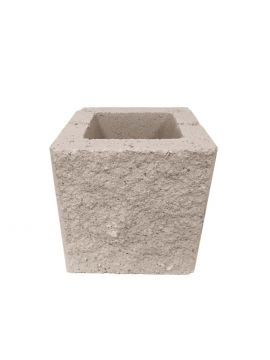 Bloque de hormigón hueco SPLIT crema 20x20x20cm