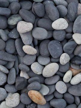 Beach Pebbles Schwarz 8 - 16mm