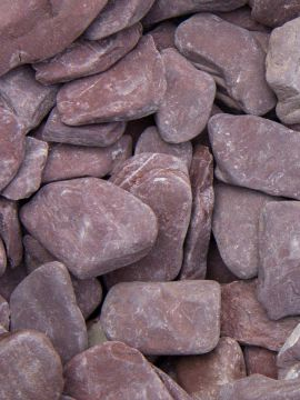 flat pebbles paars 30 - 60mm