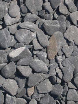 Flat Pebbles Schwarz 15-30mm