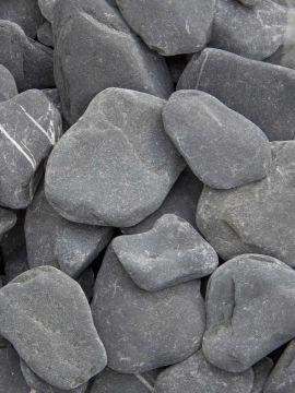 Flat Pebbels zwart 30 - 60mm (3 - 6cm)