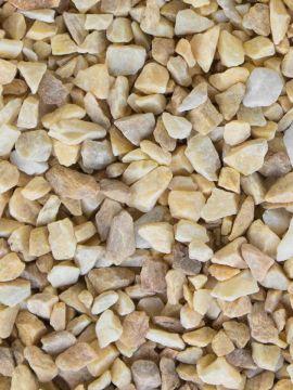 Grava amarilla Mármol 6 - 12mm en seco