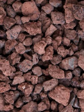 Grava volcánica rojiza 10 - 20mm en seco
