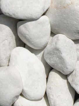 Marmor Weiß Kies Gabionensteine 60 - 90mm