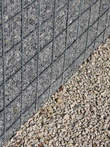 Kalksteinsplitt grau verwendet in Gabion
