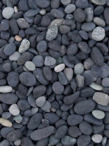 Beach Pebbles Schwarz 5 - 8mm