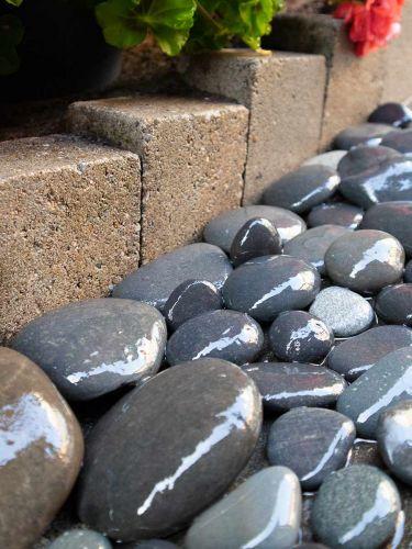 Beach Pebbles Large 30 - 60mm (3 - 6cm) (nat) aangelegd
