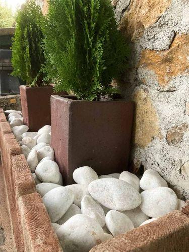 Bolo Blanco de mármol jardin