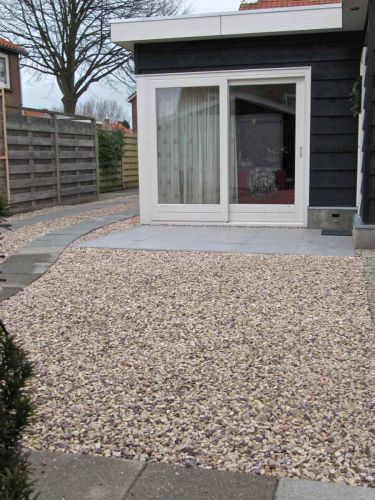 Cappuccino split 8 - 16mm aangelegde tuin