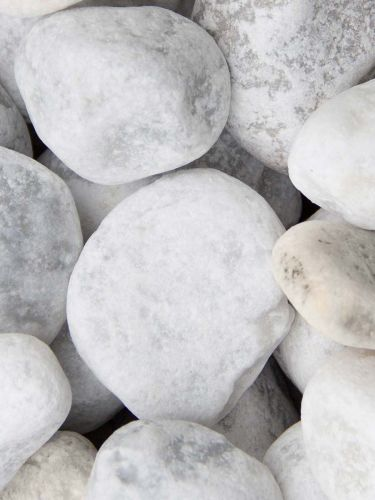 Carrara Kies Gabionensteine 40 - 80mm (nass)