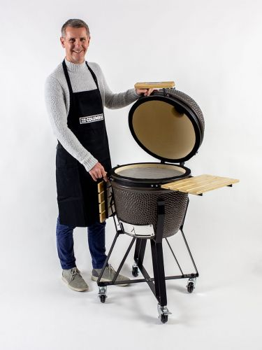 The Columbus Medium Charcoal Grey Compleet Kamado