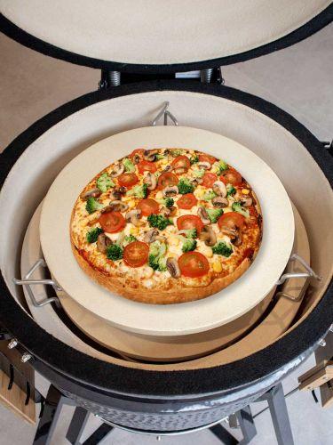 Deflektorstein inkl. Distanzhalter + extra Pizzastein; so funktioniert es