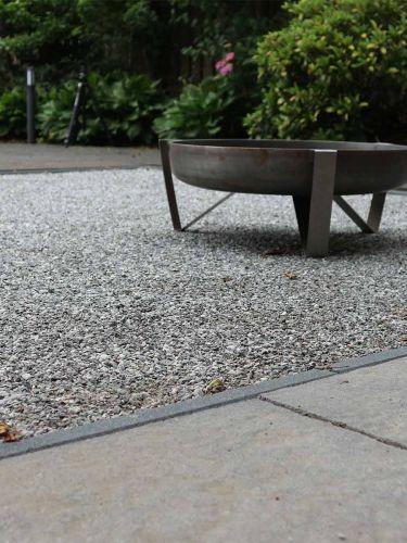 Dolomiet silver-grey 0 - 5mm aangelegd