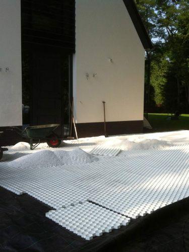 Instalación de las estabilizadores de grava Easygravel® blancas