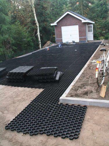 Instalación de geoceldas Easygravel® en jardín