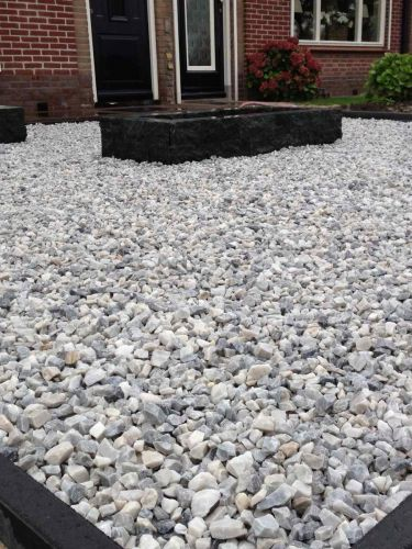 Easygravel®3XL Grindmatten wit gevuld met Ice blue split