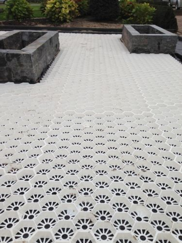 Witte grindmatten easygravel® aanleg