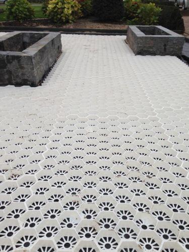 Easygravel®3XL grindmatten wit aanleg