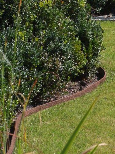 Tuinafboording Ecolat rol bruin aangelegd