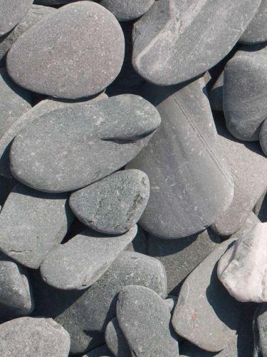 Flat Pebbles groen 30 - 60mm (3 - 6cm)
