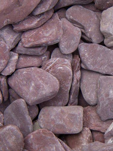 Flat Pebbles paars 30 - 60mm