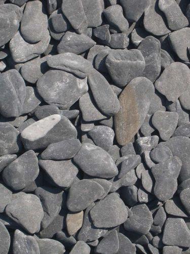 Flat Pebbles Schwarz 15 - 30mm