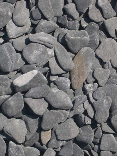 Flat Pebbels zwart 15 - 30mm