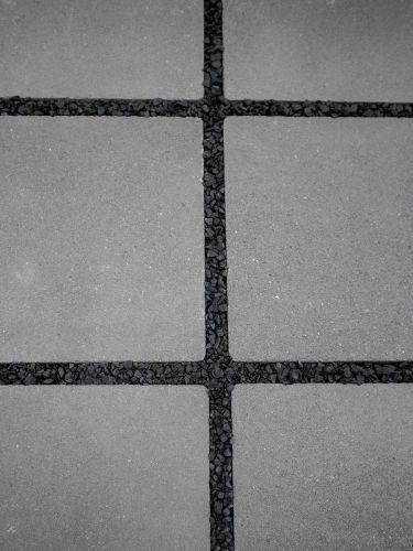 Fugensplitt Schwarz 5 - 8mm verlegt