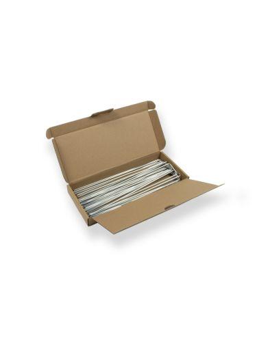 Caja con grapas de sujección