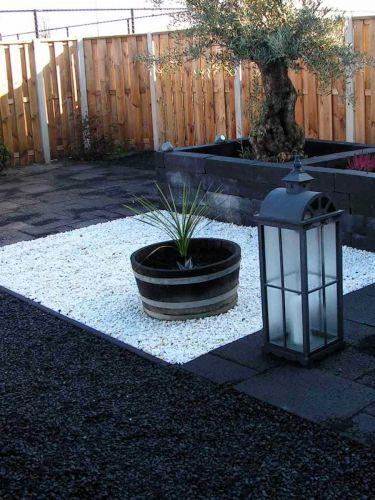 Jardín ornamental con Grava Blanca