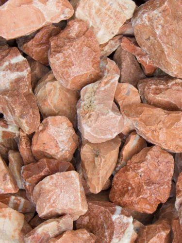 Grava roja mármol 20 - 30mm en seco