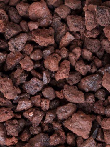 Grava volcánica rojiza 10 - 20mm mojada