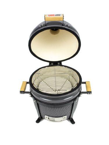 Grill Guru Classic Compact Grey Kamado 38cm geöffnet