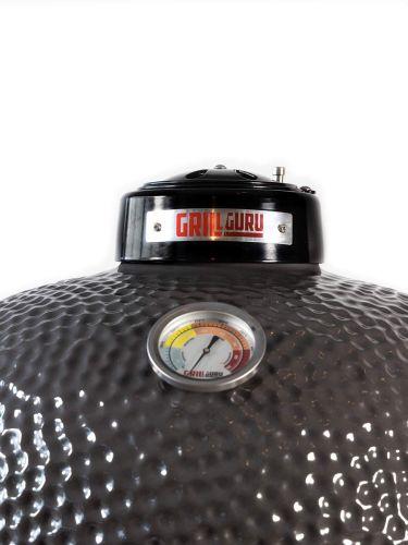 Grill Guru Classic Medium Grey Kamado 52cm obere Belüftungsöffnung