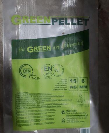 Holzpellets EN+A1 / DIN+ Biomasa (grüne Verpackung)