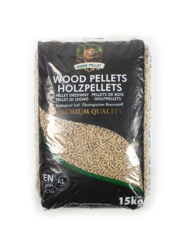 Houtpellets EN+A1 / DIN+ Biber zwarte zak