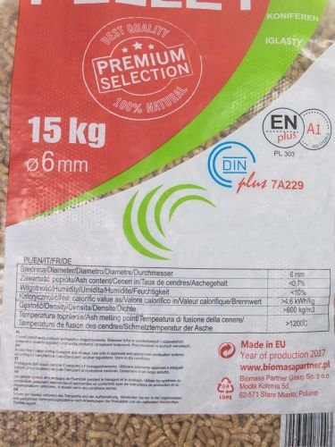 Holzpellets EN+A1 / DIN+ Biomasa (rote Verpackung)
