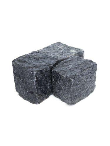 Kopfsteinpflaster Granit anthrazit 8 - 10cm (nass)