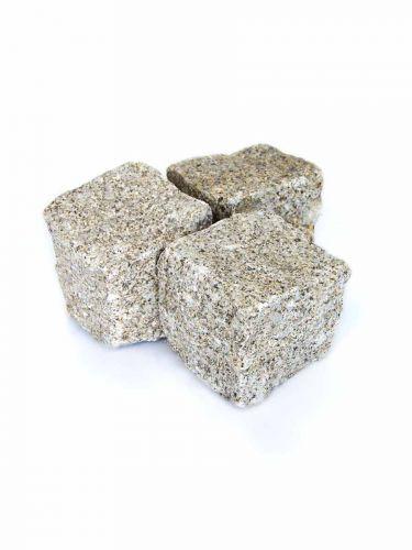 Kopfsteinpflaster Granit gelb 8 - 10cm