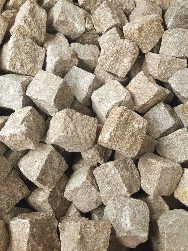 Kopfsteinpflaster Granit gelb 8 - 10cm trocken