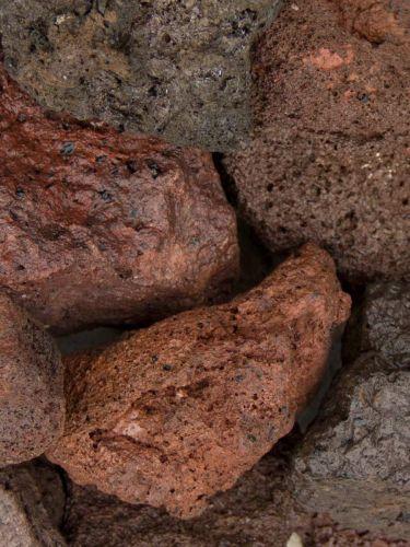 Lava brokken 40 - 80mm (4- 8cm) nat