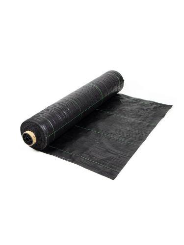 Rollo de malla antihierbas negro