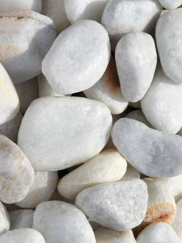 Marmor Kies weiß 25-40mm naß