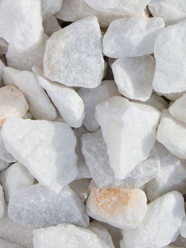 Marmorsplitt weiß 25 - 40mm
