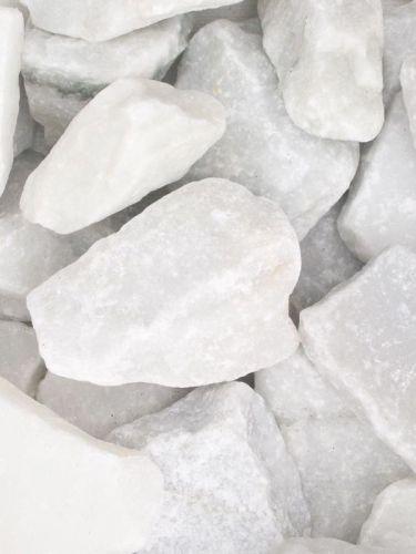 Marmor weiß Bruchsteine 60 - 100mm