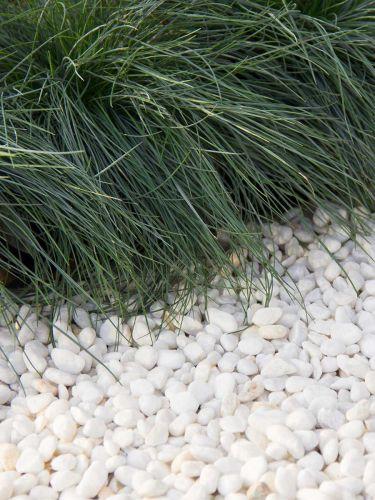 Marmorkies weiß 8 - 16 verlegt in Ziergarten