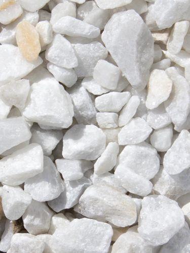Marmorsplitt weiß 16 - 25mm